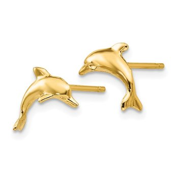 14k Dolphin Post Earrings