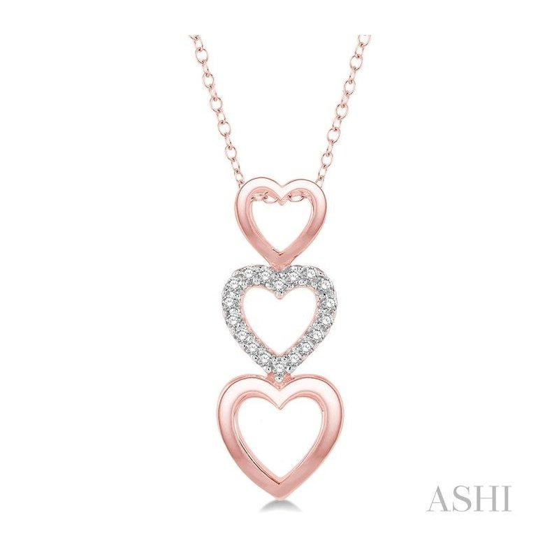Crocker's Collection heart shape diamond pendant