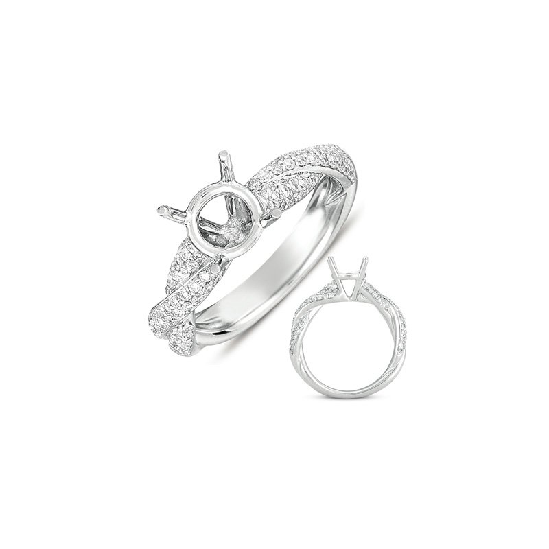 S. Kashi & Sons Bridal White Gold Engagemnt Ring