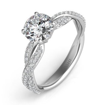 White Gold Engagemnt Ring