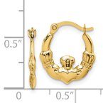 J.F. Kruse Signature Collection 14k Claddagh Hoop Earrings