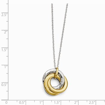 Leslie's 10K Two-tone Polished Textured Pendant