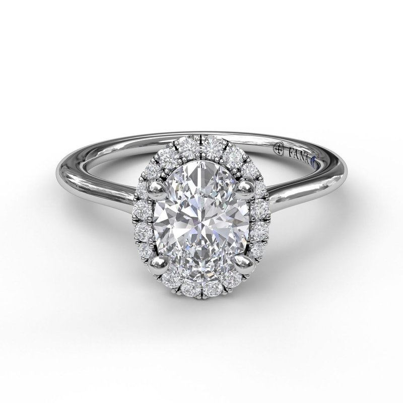 Fana Oval Cut Halo Engagement Ring
