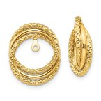 Quality Gold 14k Polished & Twisted Fancy Earring Jackets