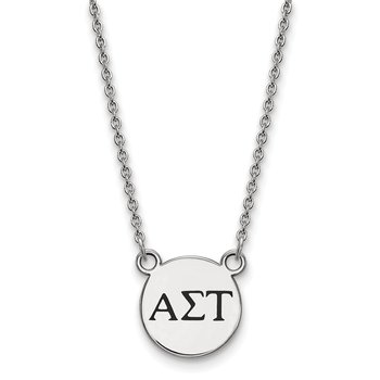 Sterling Silver Alpha Sigma Tau Greek Life Necklace