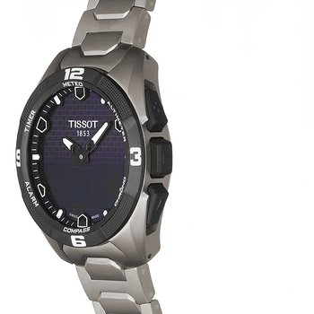 T-Touch Expert Solar Men's Titanium Bracelet Quartz Watch
