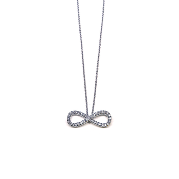 18Kt Gold Infinity Pendant With Diamonds