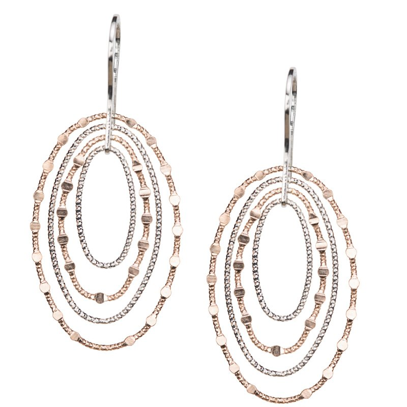 Frederic Duclos Oval Mirrors Earrings