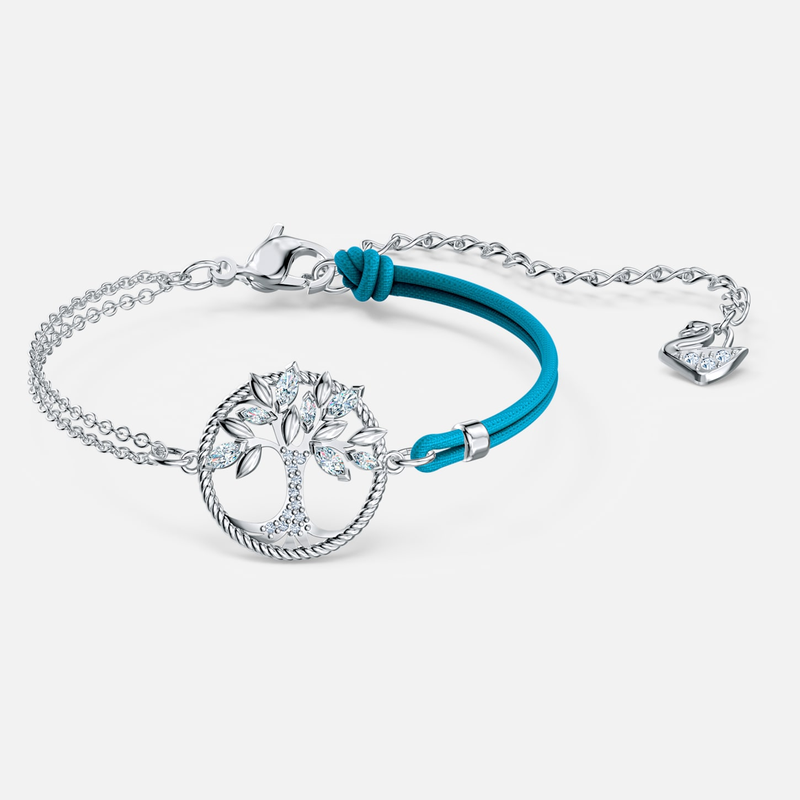 Swarovski Swarovski Symbolic Tree of Life Bracelet, Blue, Rhodium plated