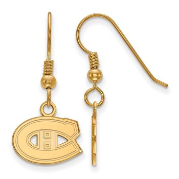 Gold-Plated Sterling Silver Montreal Canadiens NHL Earrings