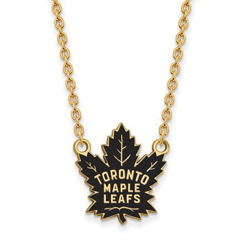 Gold-Plated Sterling Silver Toronto Maple Leafs NHL Necklace