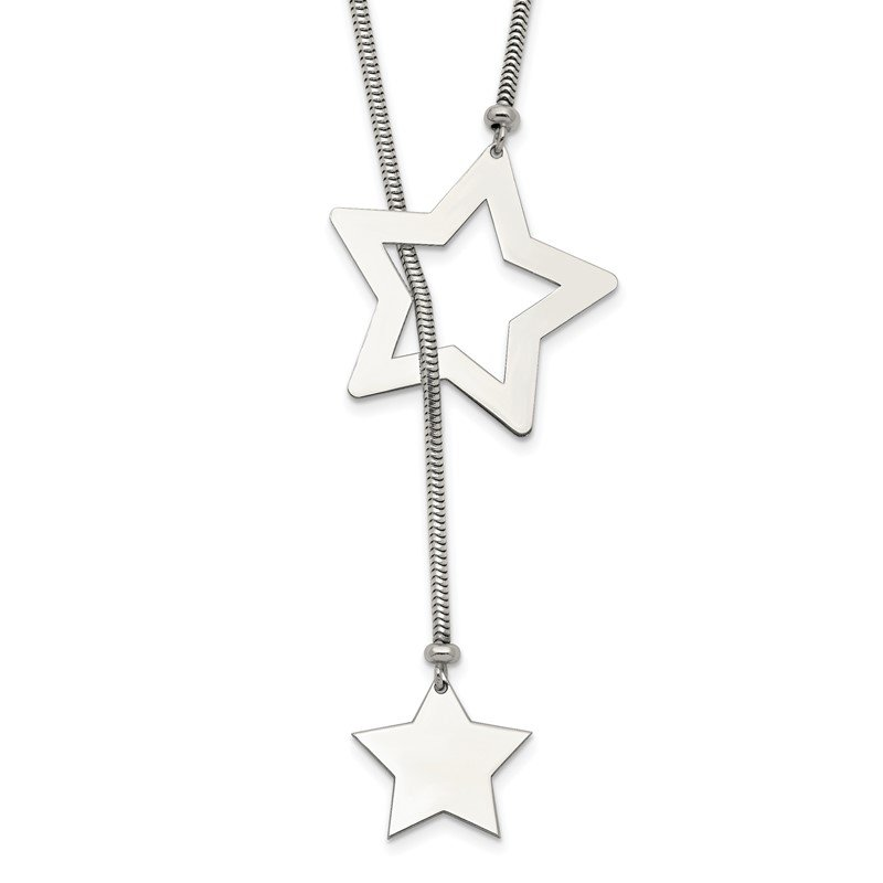 Quality Gold Sterling Silver Star Cable Wrap Necklace