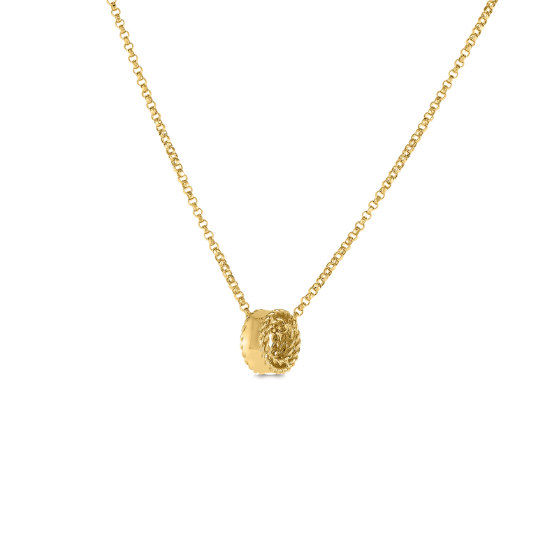 Roberto Coin  #28975 Of 18Kt Gold Princess Rondel Pendant