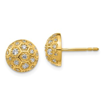 14k Diamond Honeycomb Earrings
