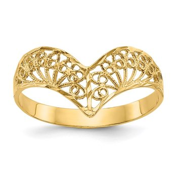 14k Diamond-Cut Filigree Ring