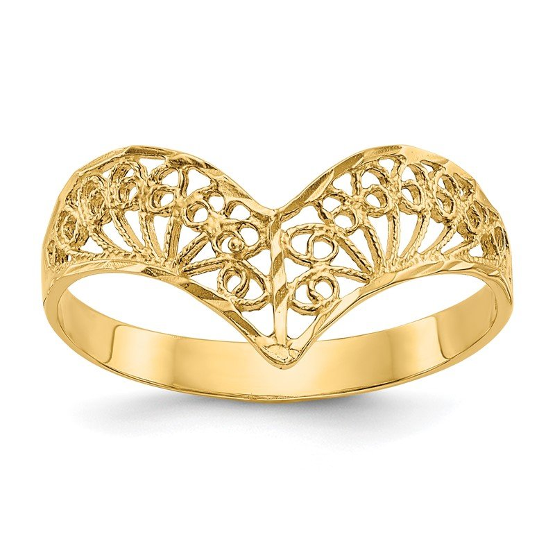 Quality Gold 14k Diamond-Cut Filigree Ring