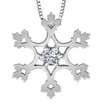 Maple Leaf Diamond , Seasons™ by Shelly Purdy, Solitaire Pendant