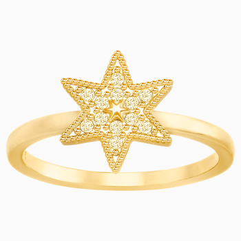 Field Star Ring, Golden, Gold-tone plated