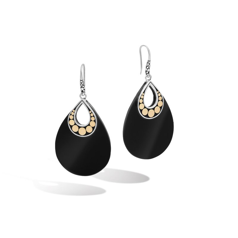 JOHN HARDY Dot Drop Earring in Silver and 18K Gold with Gemstone