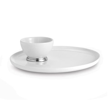 Round Platter with Dipping Bowl