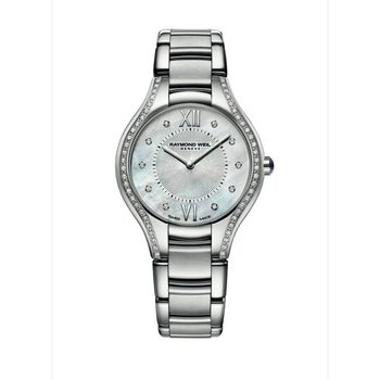 Ladies Quartz Watch, 32 mm Steel on steel 62 diamonds