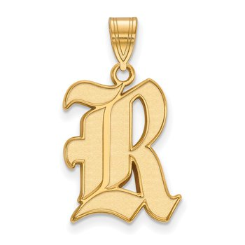 Gold-Plated Sterling Silver Rice University NCAA Pendant