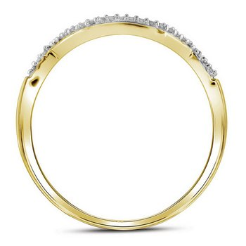 10kt Yellow Gold Womens Round Diamond Bridal Wedding Engagement Ring Band Set 1/2 Cttw