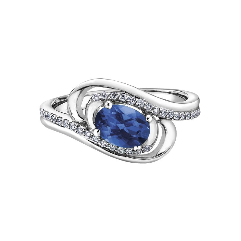 Diamond Days Sapphire Ladies Ring