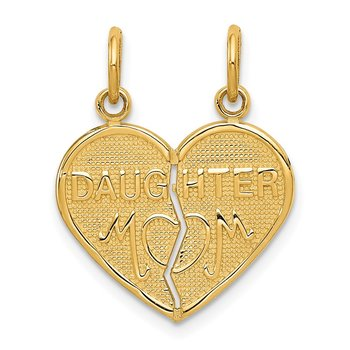 14k Break-apart MOM-DAUGHTER Charm