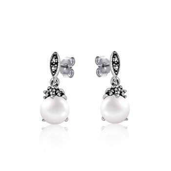 Small Drop Pearl Earrings