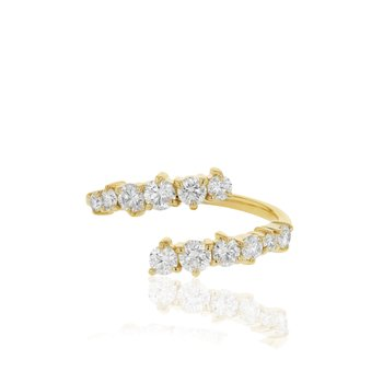 Yellow gold diamond Enchanted open wrap ring
