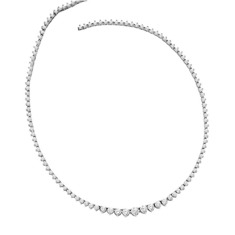Gemsone 14K Diamond Necklace 5 ctw
