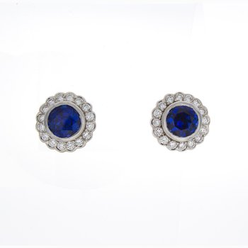 ROUND SAPPHIRE EARRINGS