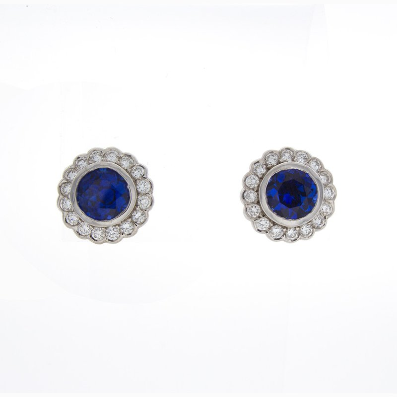 William Levine ROUND SAPPHIRE EARRINGS