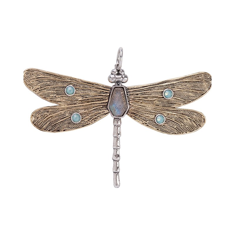 Waxing Poetic Transformative Dragonfly Pendant