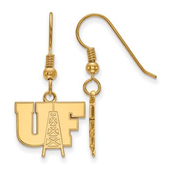 Gold-Plated Sterling Silver University of Findlay NCAA Earrings