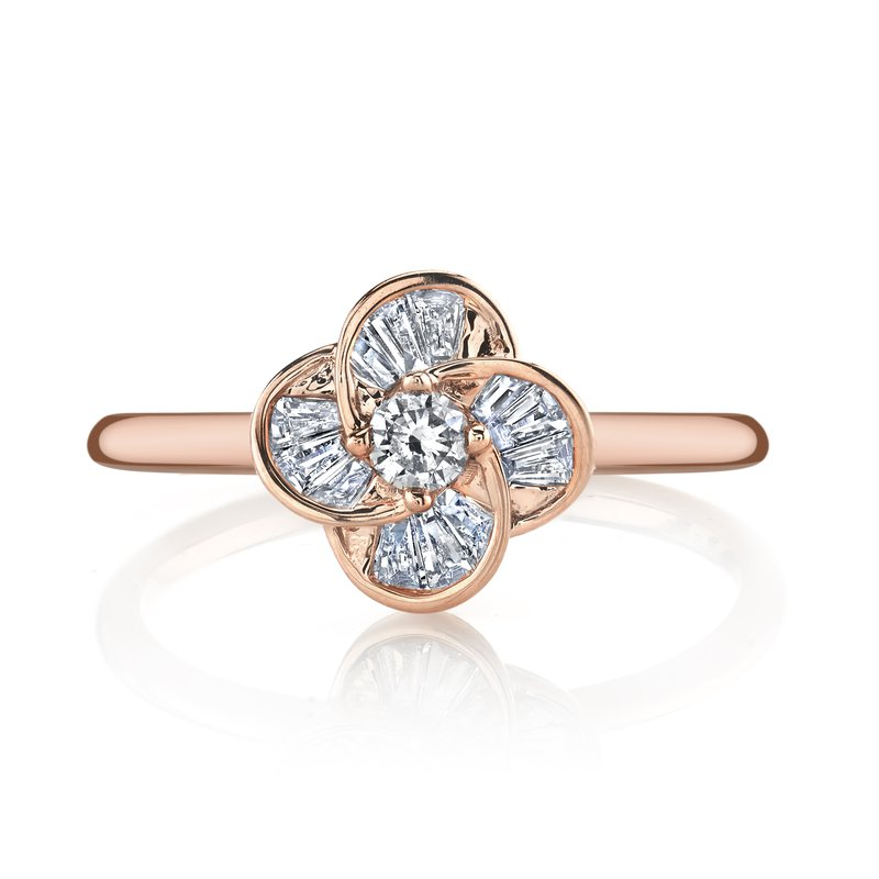 MARS Jewelry MARS 26892 Fashion Ring, 0.08 ct rd. 0.18 ct dia bg.