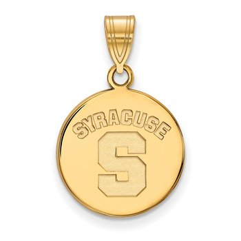 Gold Syracuse University NCAA Pendant
