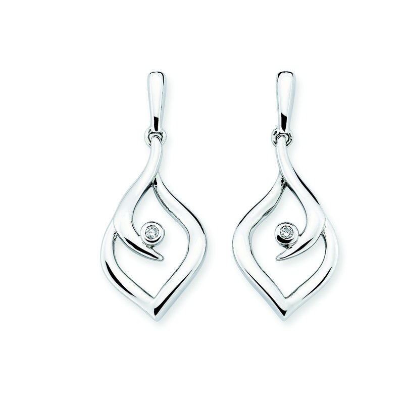 J.F. Kruse Signature Collection Earrings Rd V 0.02