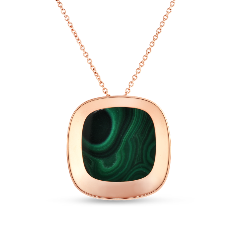 Roberto Coin Large Pendant With Malachite