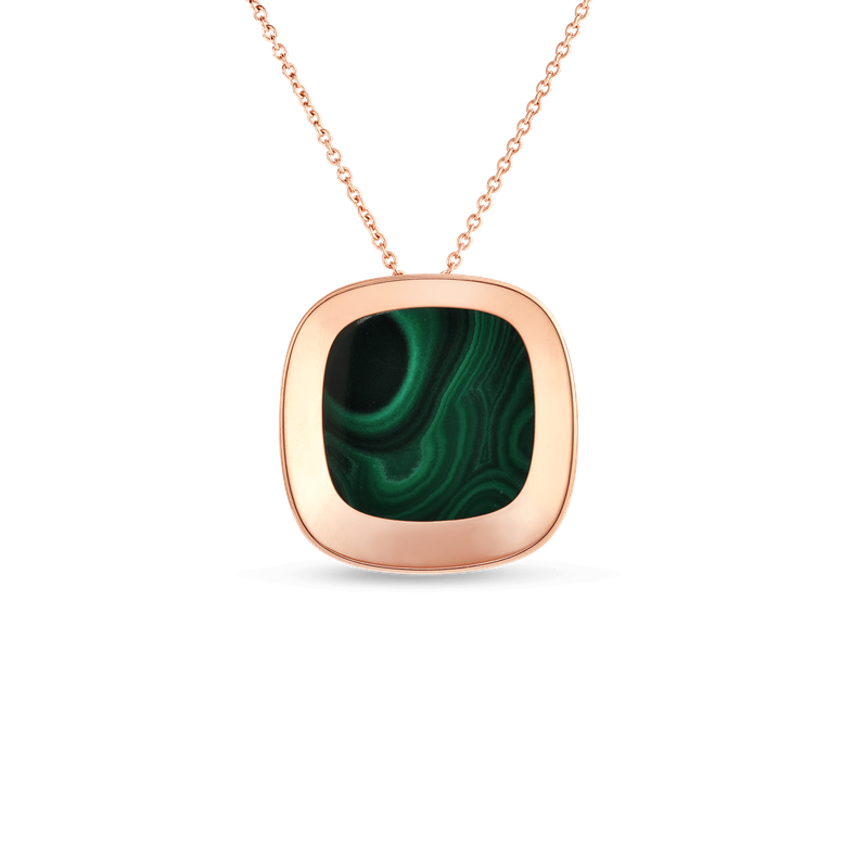 Roberto Coin 18Kt Gold Large Pendant With Malachite