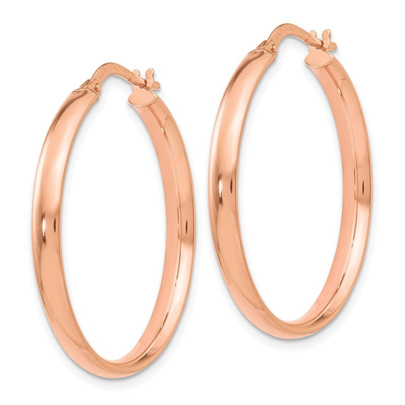 Leslie's Italian Gold Leslie's 10K Rose Gold Polished Hoop Earrings