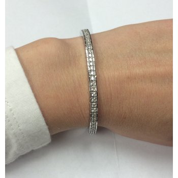 Round Diamond Channel Bracelet