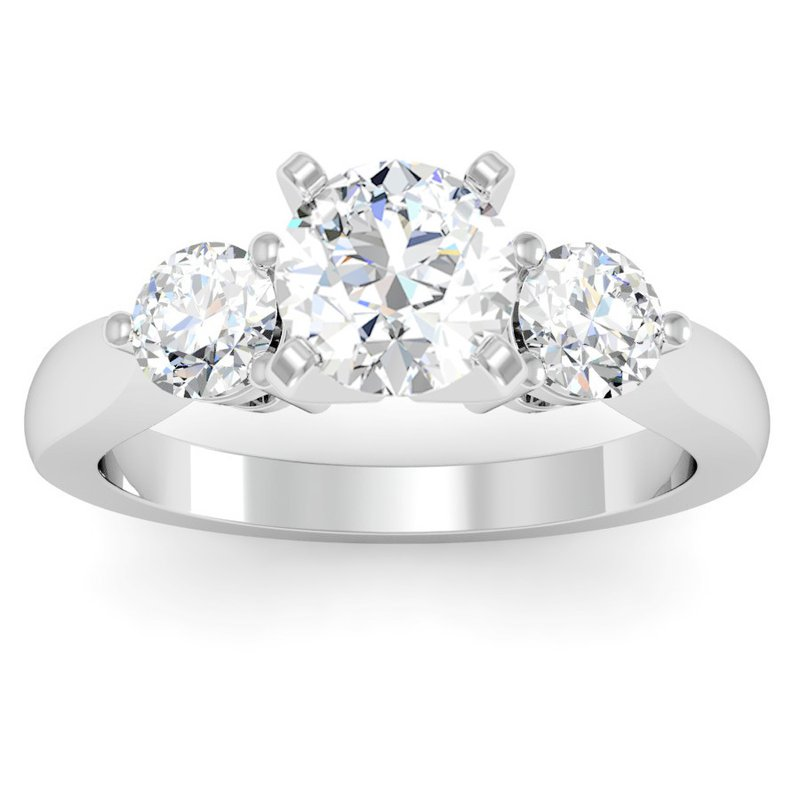 J.F. Kruse Signature Collection Round Diamond Three Stone Ring