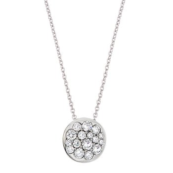 White Gold Diamond Round Tango Pendant