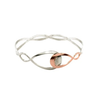 Interlocking Pear Cuff