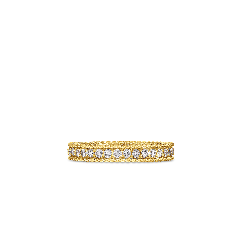 Roberto Coin 18Kt Gold Princess Ring With Diamonds