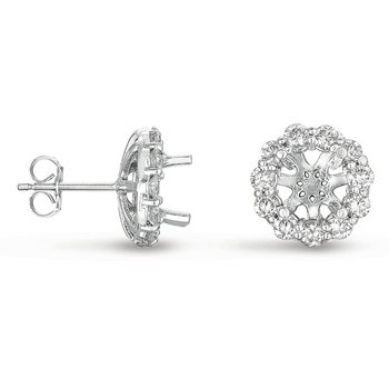 Halo Diamond Earring for 2ct  total