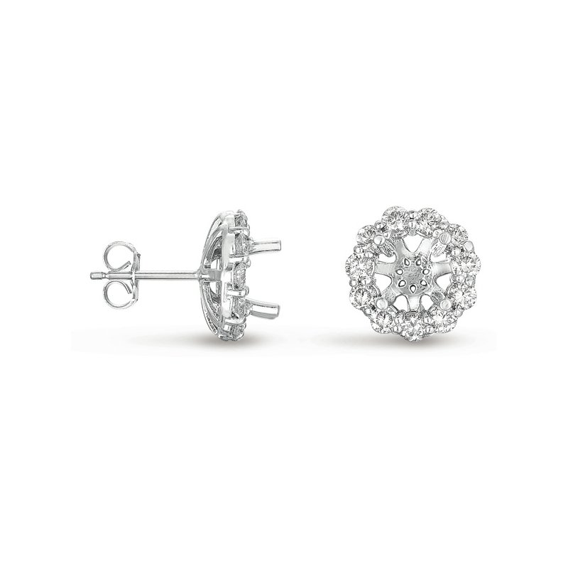 S. Kashi  & Sons Halo Diamond Earring for 2ct  total