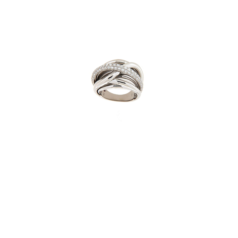 Roberto Coin  #26546 Of 18Kt Gold Diamond Twist Ring